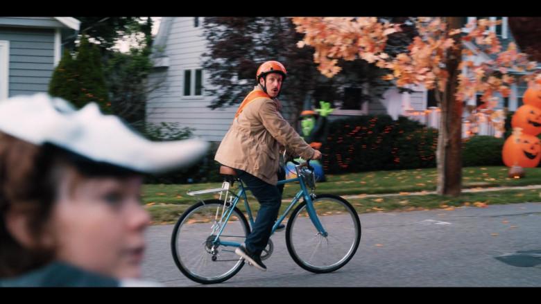 Raleigh Bicycle of Adam Sandler as Hubie Dubois in Hubie Halloween Movie by Netflix (5)