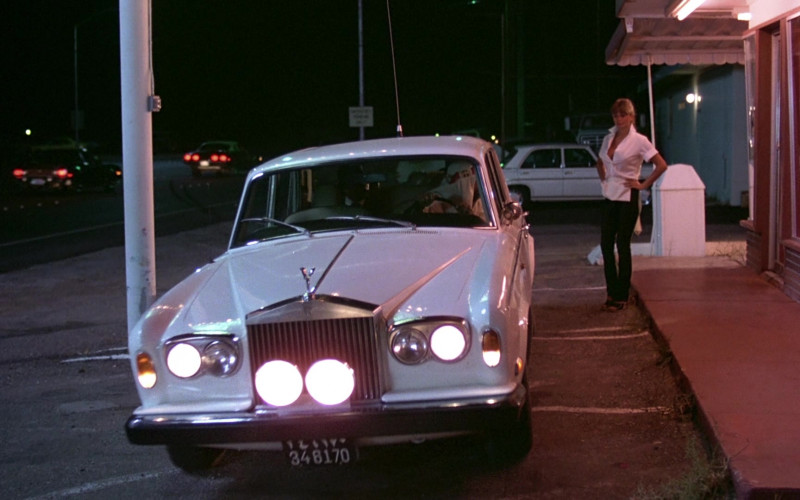 Rolls-Royce Silver Shadow I White Car in The Cannonball Run