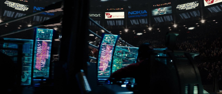 Royal Purple, Smart, Virgin America and Nokia in Real Steel (2011)