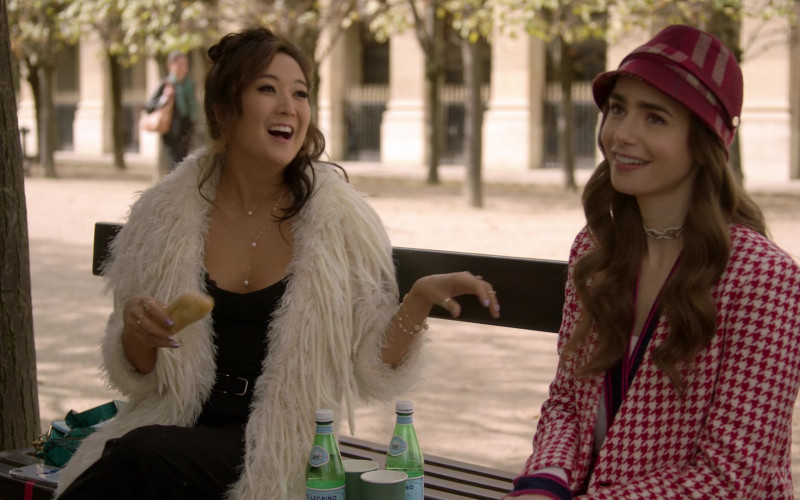 S.Pellegrino Sparkling Water Enjoyed by Ashley Park as Mindy Chen & Lily Collins as Emily Cooper in Emily in P