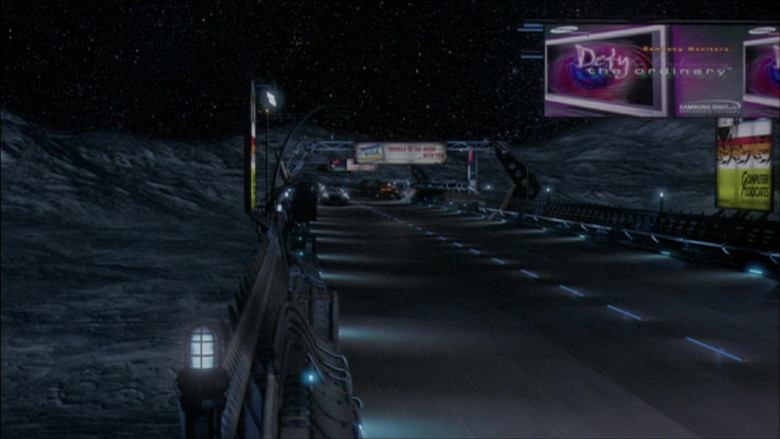 Visa and Samsung Billboard in The Adventures of Pluto Nash (2002)