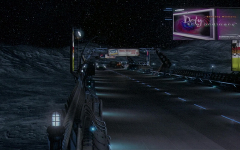 Samsung Billboard in The Adventures of Pluto Nash (2002)