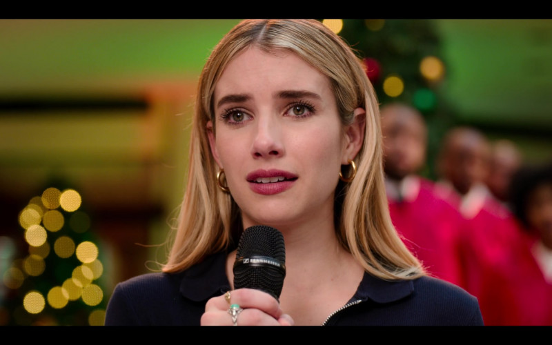 Sennheiser Microphone Used by Emma Roberts as Sloane in Holidate Movie