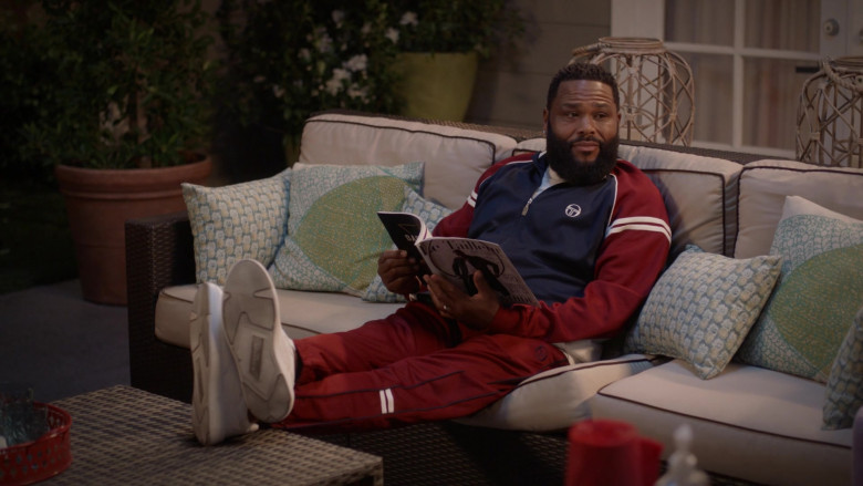 Sergio Tacchini Jacket and Pants Track Suit Outfit of Anthony Anderson as Andre 'Dre' Johnson in Black-ish S07E01 TV Show