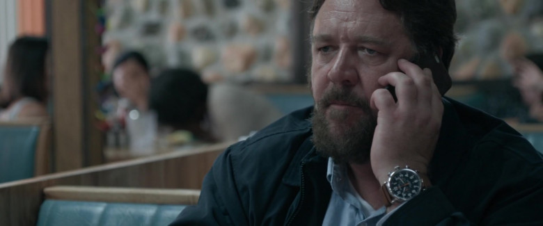 Shinola Wrist Watch of Russell Crowe as Tom Cooper (Man) in Unhinged 2020 Movie (1)