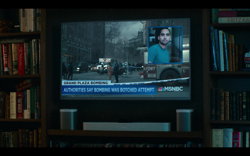 Sonos Home Audio and MSNBC TV Channel in Grand Army S01E01