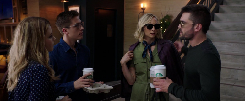 Starbucks Coffee Cups Held by Dylan Sprouse as Trevor Matthews in After We Collided (2)