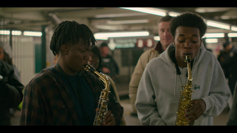 Stüssy Hoodie Outfit of Maliq Johnson as Jayson Jackson in Grand Army S01E02 TV Show (1)
