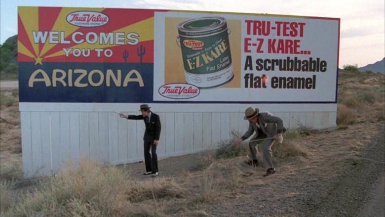 True Value Store Billboard in Cannonball Run II (1984)
