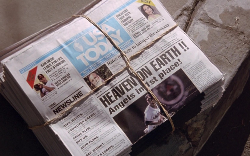 USA TODAY Newspapers in Angels in the Outfield Movie (2)