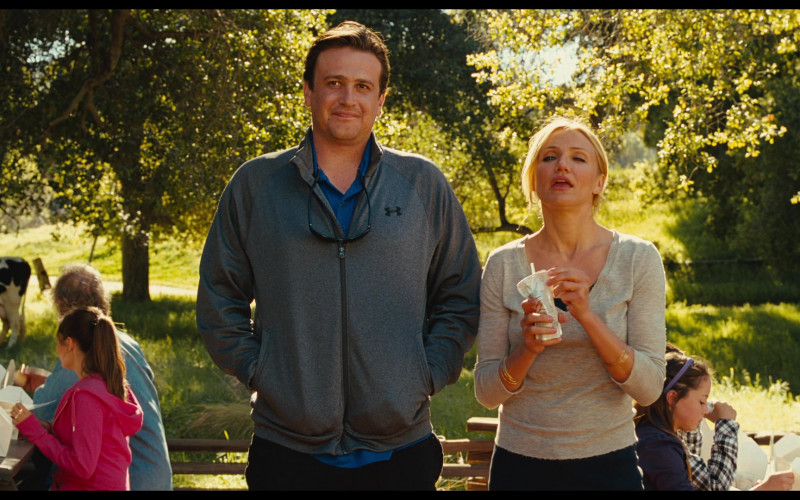 Under Armour Grey Jacket Street Style of Jason Segel as Russell Gettis in Bad Teacher
