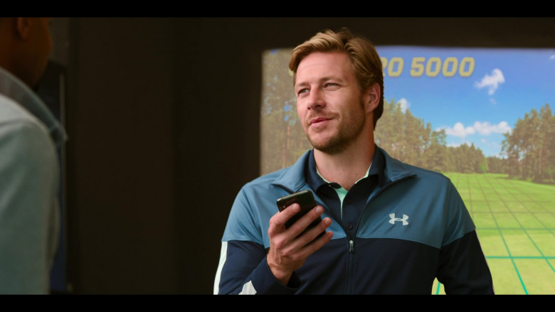 Under Armour Jacket of Luke Bracey as Jackson in Holidate Movie (3)