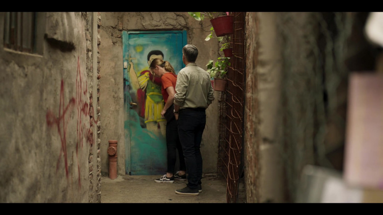 Vans Sneakers of Julia Stiles as Georgina Marjorie Clios in Riviera S03E06 (2020)