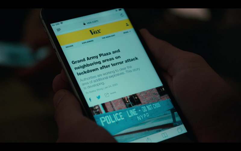 Vox Website in Grand Army S01E01 Brooklyn, 2020 (2020)