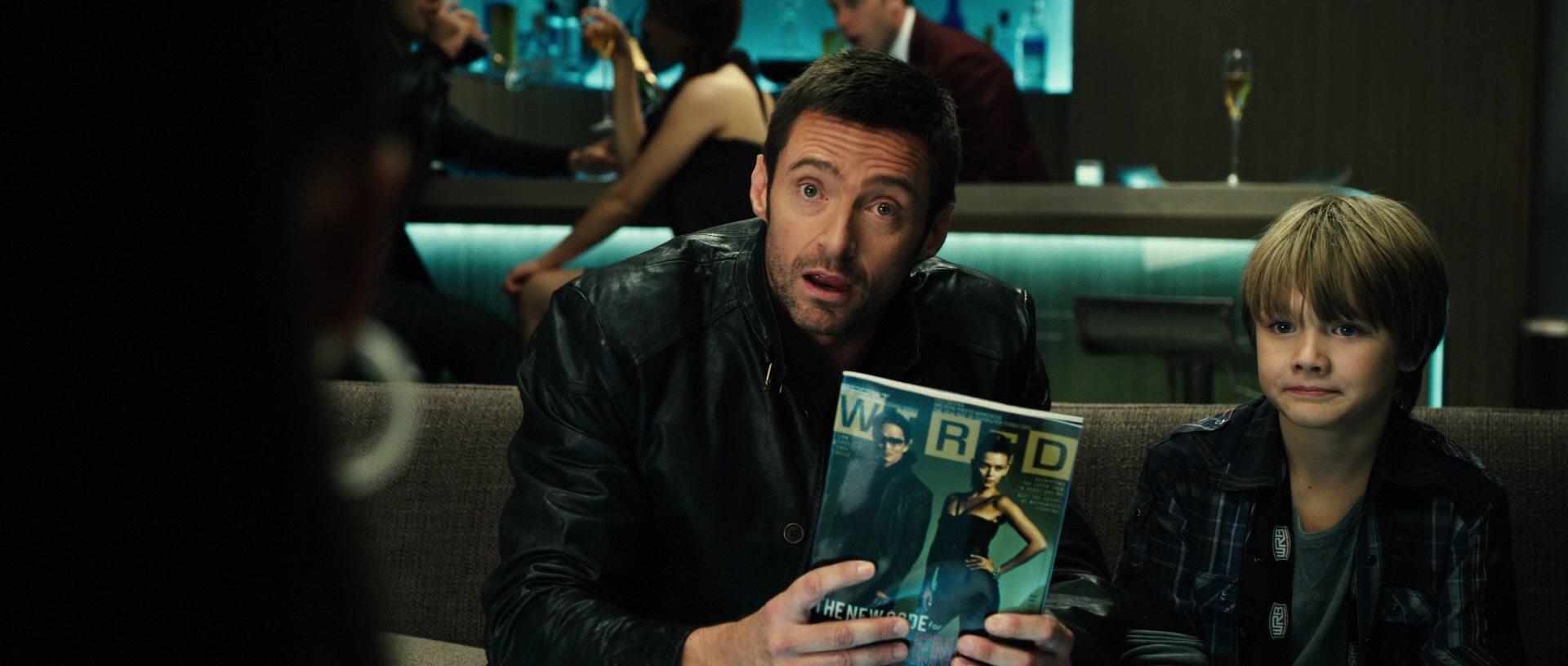 Wired Magazine Held By Hugh Jackman As Charlie Kenton In Real Steel 2011