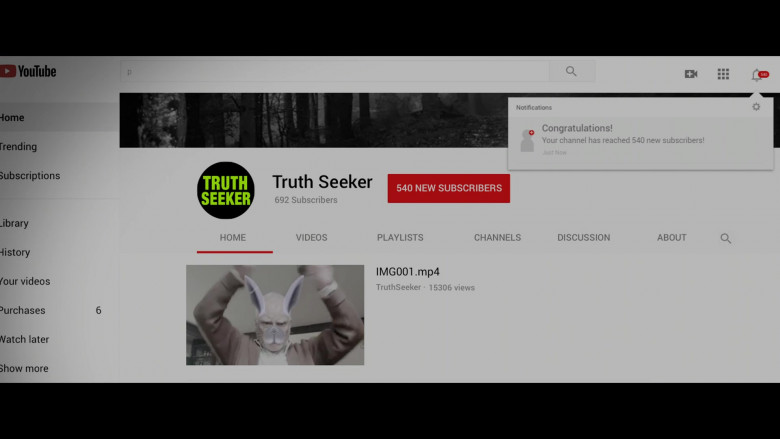 Youtube Website in Truth Seekers S01E03 The Girl with All the Ghosts (2020)