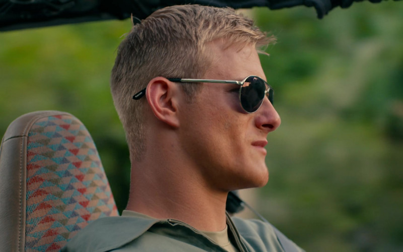 Alexander Ludwig as Captain Andrew Jantz Wears Tom Ford Marko Aviator Sunglasses in Operation Christmas Drop Movie (1)