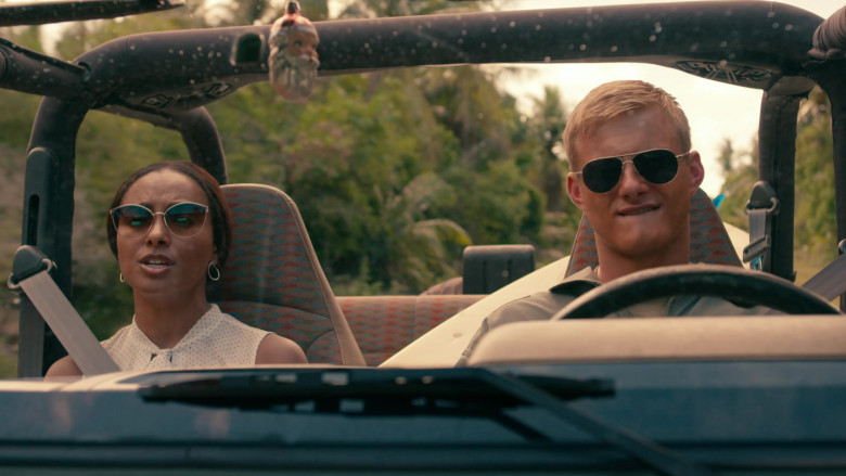 Alexander Ludwig as Captain Andrew Jantz Wears Tom Ford Marko Aviator Sunglasses in Operation Christmas Drop Movie (3)