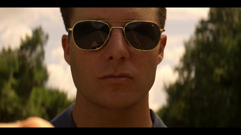 American Optics Gold Frame Aviator Sunglasses For Men in The Right Stuff S01E07 Ziggurat (2020)