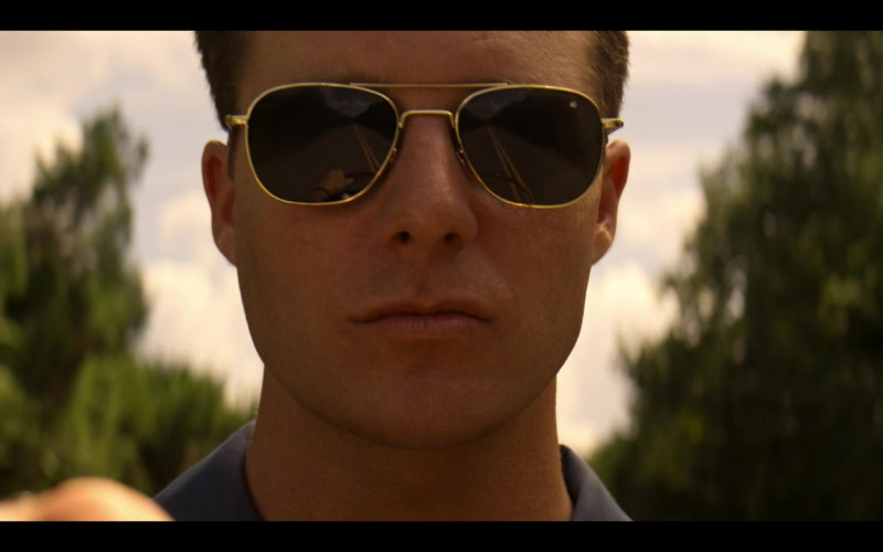 American Optics Gold Frame Aviator Sunglasses For Men in The Right Stuff S01E07 Ziggurat (2020)
