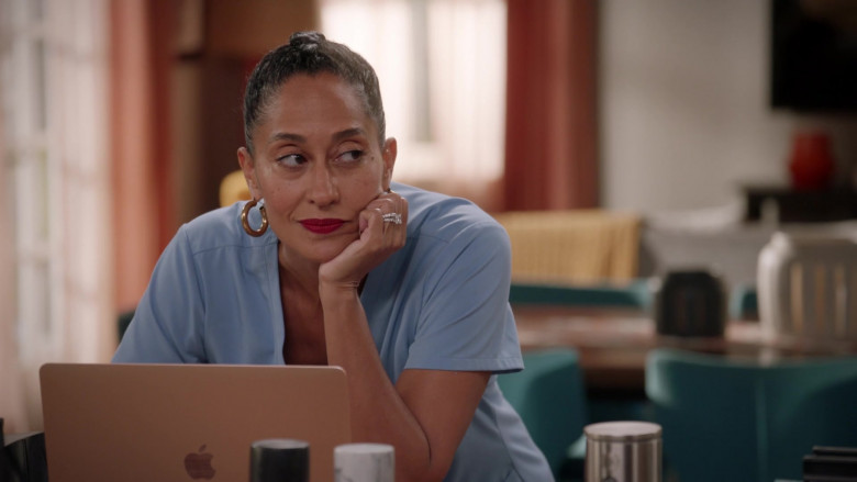 Apple MacBook Laptop of Tracee Ellis Ross in Black-ish S07E04 Our Wedding Dre (2020)