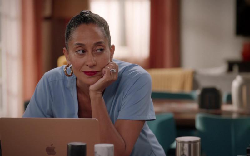 Apple MacBook Laptop of Tracee Ellis Ross in Black-ish S07E04 Our Wedding Dre (2020)