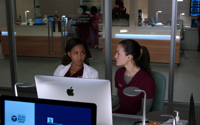 Apple iMac All-in-One Macintosh Desktop Computers in Chicago Med S06E02 (6)