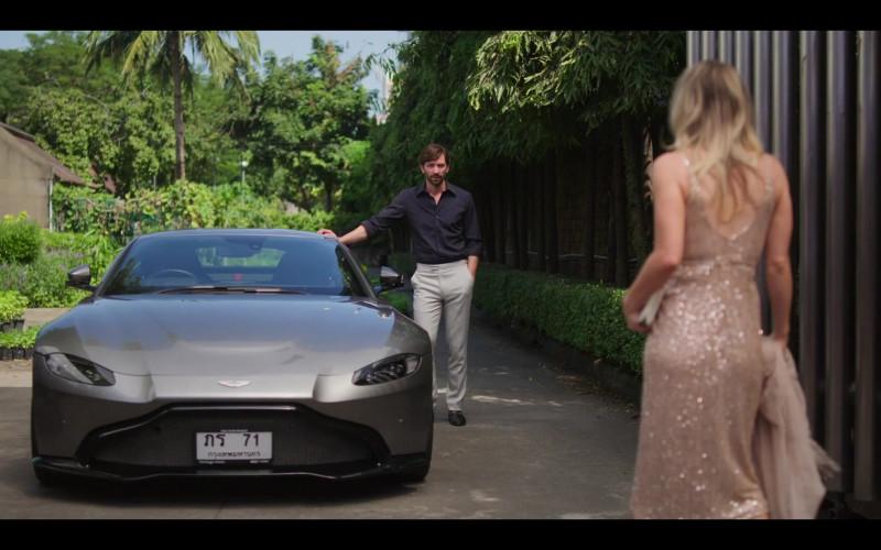 Aston Martin DB11 Sports Car of Michiel Huisman as Alex in The Flight Attendant S01E01 TV Show (1)