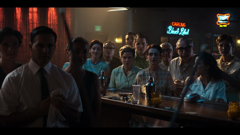 Carling Black Label and Miller High Life On Tap Neon Signs in The Right Stuff S01E08