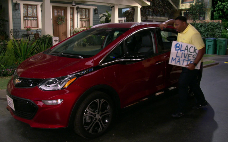 Chevrolet Bolt EV Red Electric Car in The Neighborhood S03E01 Welcome to the Movement (2020)