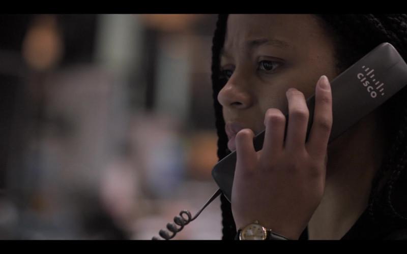Cisco IP Phone Used by Myha'la Herrold as Harper Stern in Industry S01E08