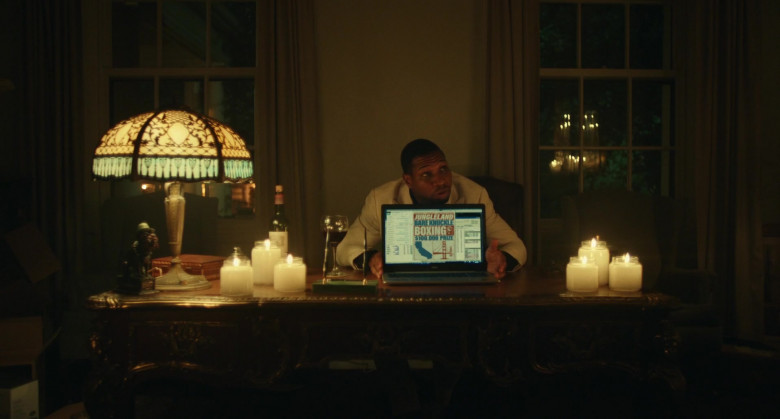 Dell Laptop of Jonathan Majors as Pepper in Jungleland (2)