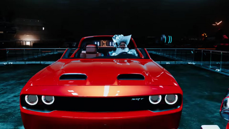 Dodge Challenger SRT Red Muscle Car in 'Holiday' by Lil Nas X
