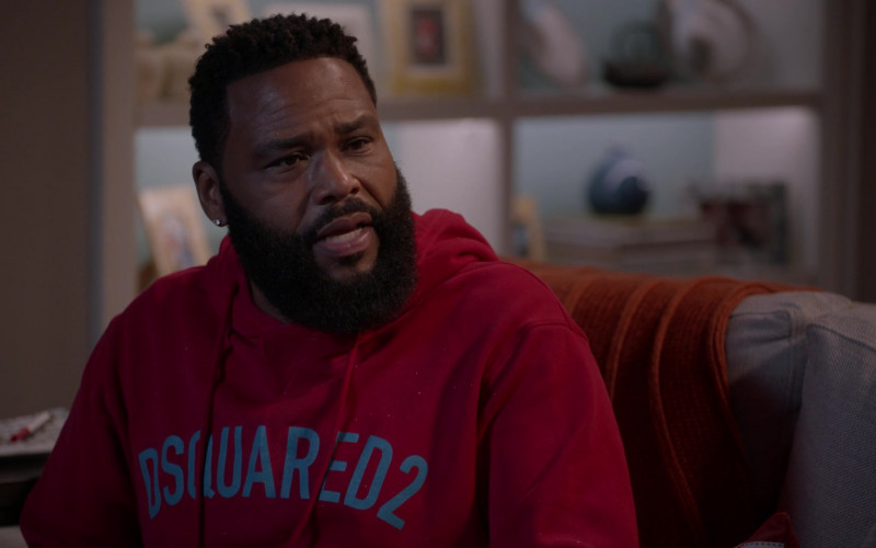 Dsquared2 Hoodie (Red) Outfit of Anthony Anderson as Andre 'Dre' Johnson in Black-ish S07E04 (1)