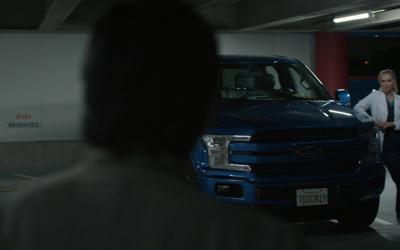 Ford F-150 Blue Pickup Truck in The Good Doctor S04E04 (1)
