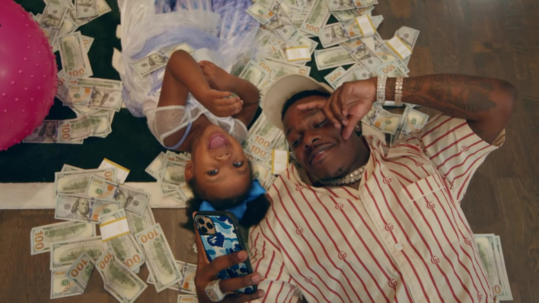 """Gucci Short Sleeved Shirt of DaBaby in """"More Money More Problems"""" (2020)"""