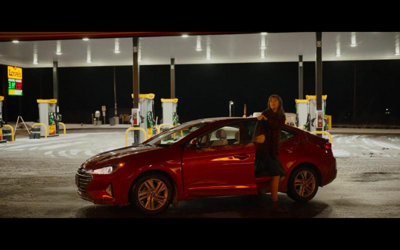 Hyundai Elantra Red Car of Mackenzie Davis as Harper in Happiest Season Movie (2)