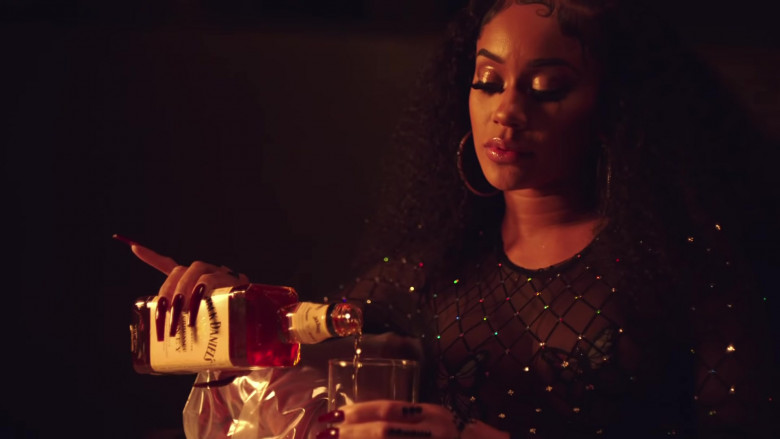 "Jack Daniel's Tennessee Honey Whiskey in ""Back to the Streets"" by Saweetie feat. Jhené Aiko (2)"