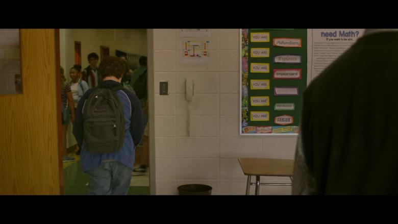 JanSport Green Backpack of Owen Asztalos as young J.D. in Hillbilly Elegy