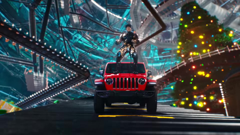 Jeep Gladiator Rubicon Red Pickup Car in 'Holiday' by Lil Nas X (2)