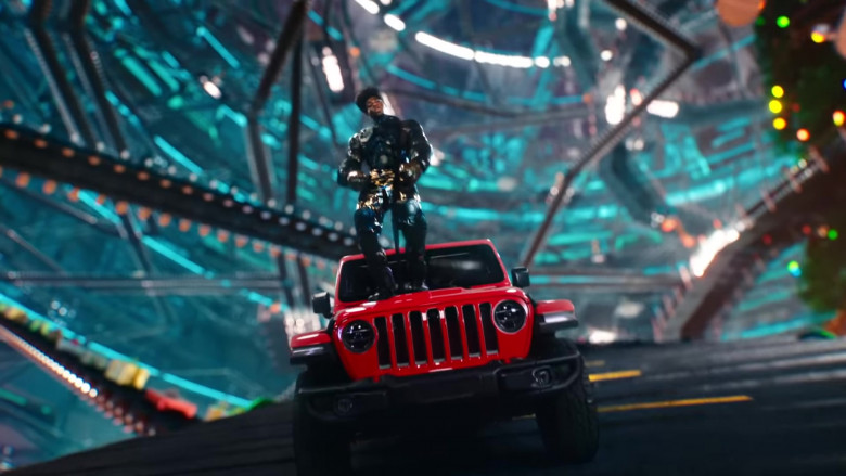 Jeep Gladiator Rubicon Red Pickup Car in 'Holiday' by Lil Nas X (3)
