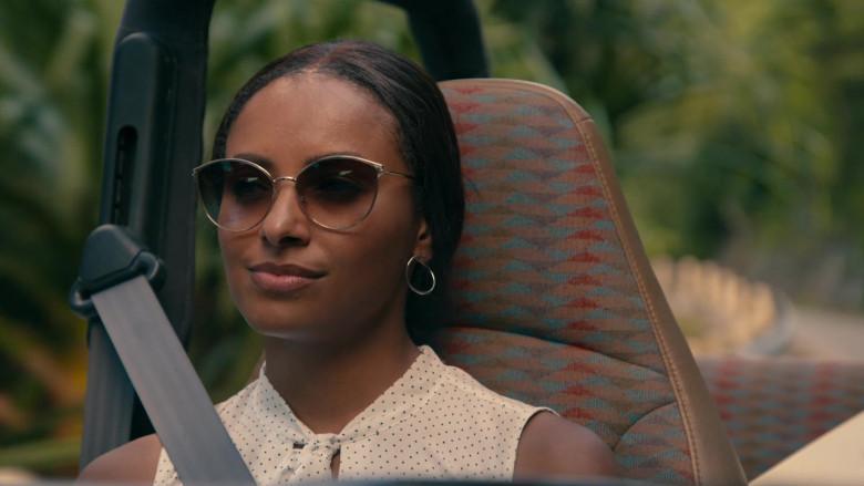 Kat Graham as Erica Miller Wears Tom Ford Zeila Cat Eye Sunglasses in Operation Christmas Drop Movie (1)