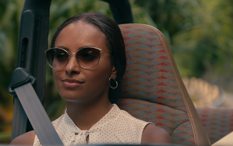 Kat Graham as Erica Miller Wears Tom Ford Zeila Cat Eye Sunglasses in Operation Christmas Drop Movie (1)