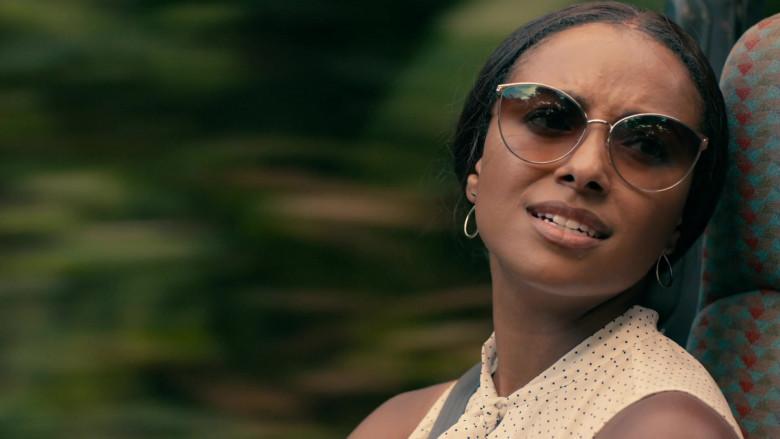 Kat Graham as Erica Miller Wears Tom Ford Zeila Cat Eye Sunglasses in Operation Christmas Drop Movie (2)
