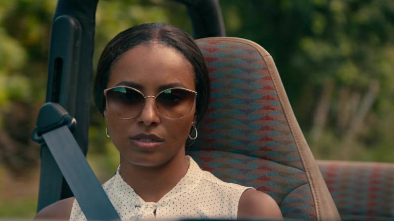 Kat Graham as Erica Miller Wears Tom Ford Zeila Cat Eye Sunglasses in Operation Christmas Drop Movie (3)