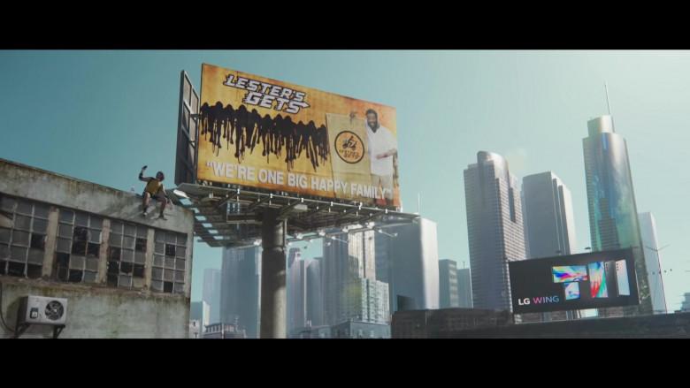 LG Wing Billboards in Songbird 2021 Movie (1)