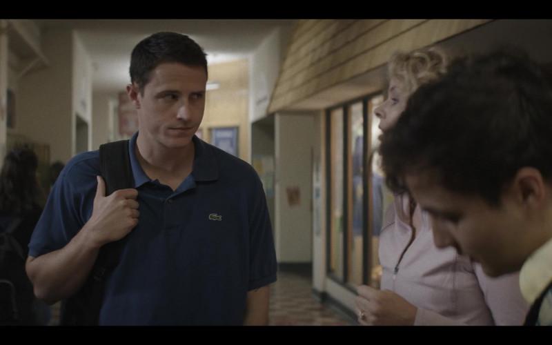 Lacoste Blue Polo Shirt in A Teacher S01E02 (2020)