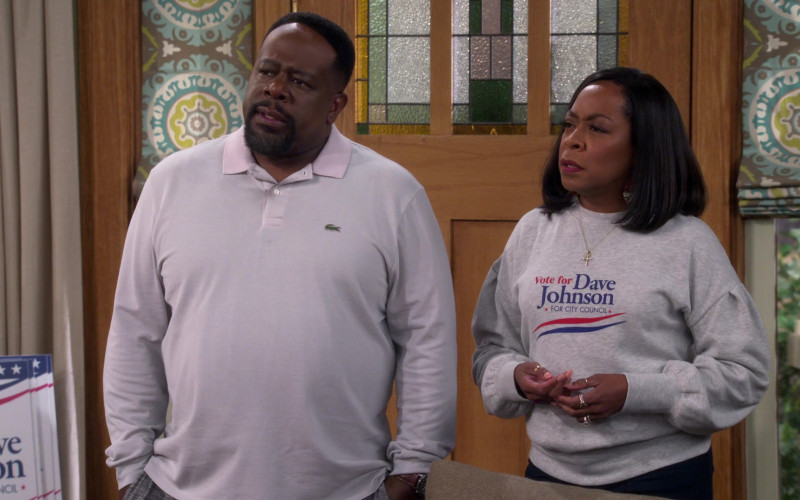 Lacoste Long Sleeved Shirt of Cedric Antonio Kyles (Cedric the Entertainer as Calvin Butler) in The Neighbo