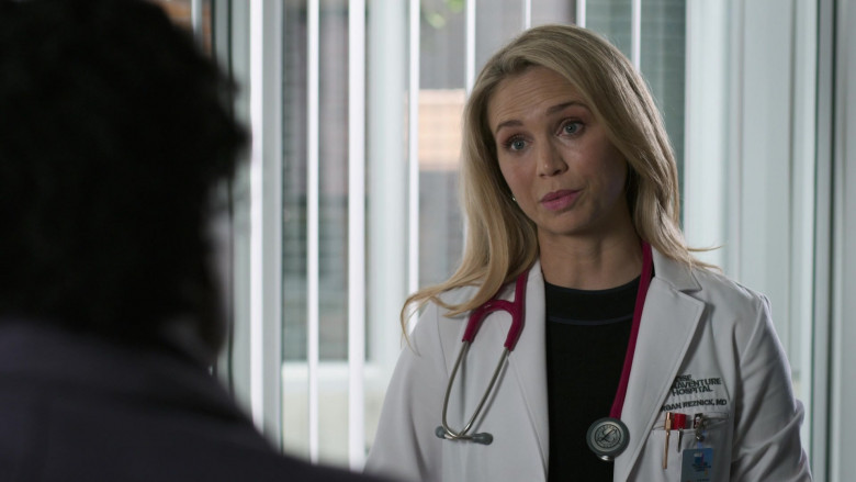 "Littmann Stethoscope of Fiona Gubelmann as Dr. Morgan Reznick in The Good Doctor S04E01 ""Frontline Part 1"" (2020)"