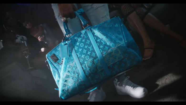 """Louis Vuitton Keepall Bandouliere Monogram Turquoise Mesh Bag in """"Flewed Out"""" by City Girls Feat. Lil Baby ("""